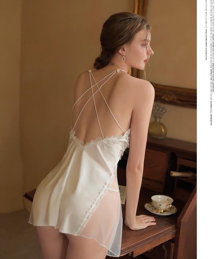 Đầm Ren Ngủ Xuyên Thấu Blingerie
