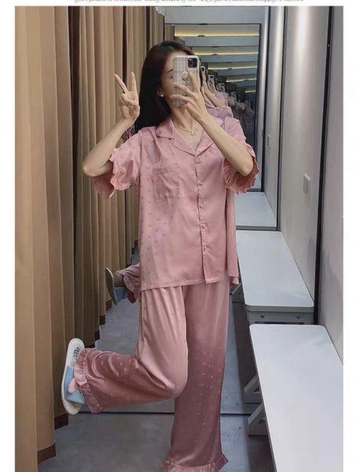 Đồ Ngủ Pijama Lụa Dài