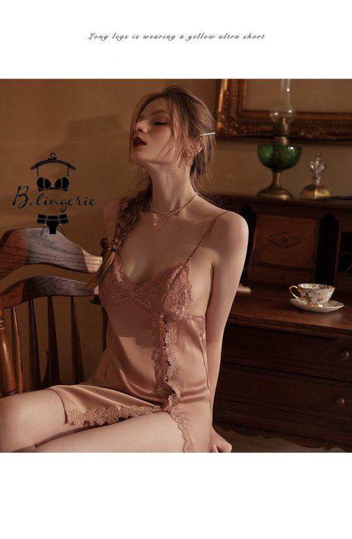 Đầm Ngủ Phi Lụa Satin Gợi Cảm