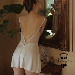 Đầm Ngủ Phi Lụa Satin Quyến Rũ