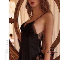 Đầm Ngủ Ren Hoa Trắng