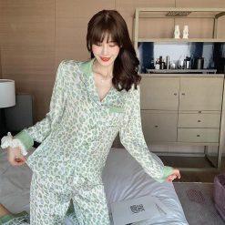 Đồ Bộ Pijama Lụa Dài Tay