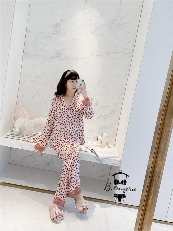 Đồ Bộ Pijama Lụa Satin - BO383
