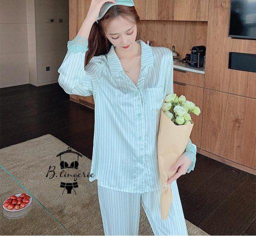 Đồ Ngủ Pijama Lụa Tay Dài
