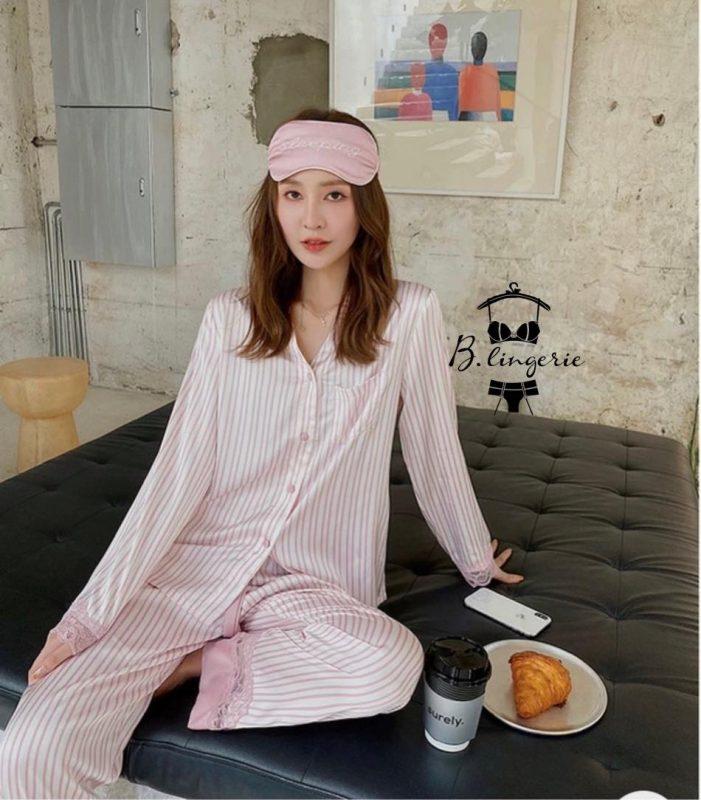 Đồ Ngủ Pijama Lụa Tay Dài (1)