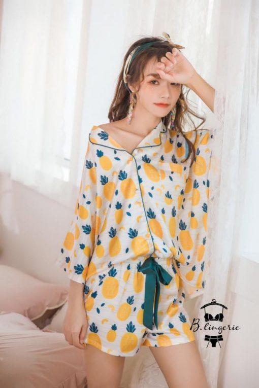 Đồ Pijama Ngắn Trái Thơm