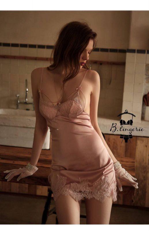 Đầm Ngủ Dây Buộc Phía Sau