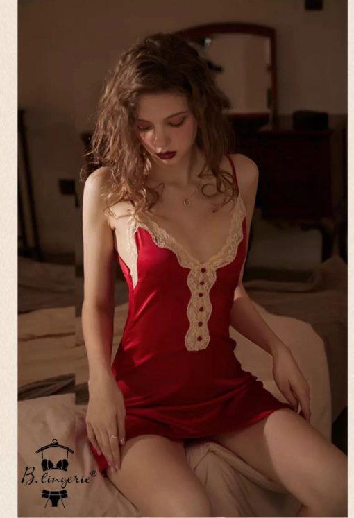 Đầm Ngủ Phi Lụa Dài