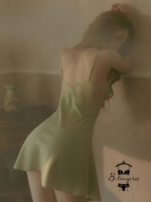 Đầm Ngủ Satin Ngắn