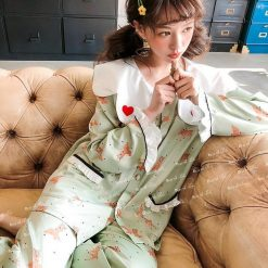 Đồ Bộ Pijama Nữ Dài Tay
