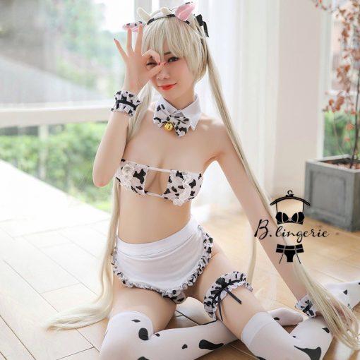 Đồ Ngủ Cosplay Bò Sữa