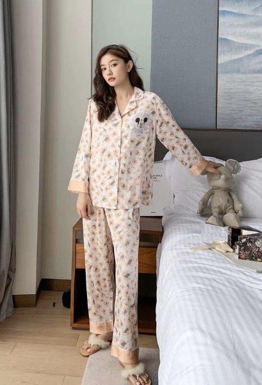 Đồ Ngủ Pijama Nữ Lụa Dài Tay