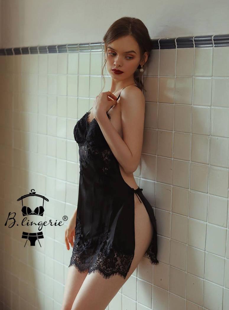 Đầm Ngủ Phi Lụa Ngắn - Blingerie