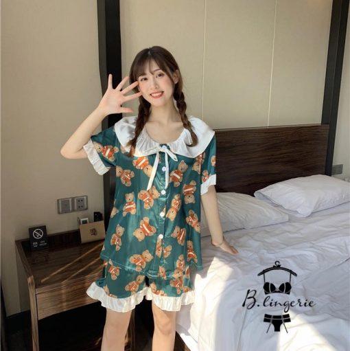Quần Áo Pijama Nữ Ngắn