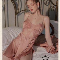 Đầm Ngủ Màu Nâu Cuốn Hút
