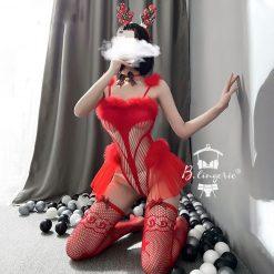 Cosplay Noel Gợi Cảm Blingerie
