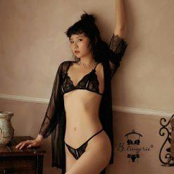 Đồ Lót Ren Sexy Kèm Áo Choàng Blingerie