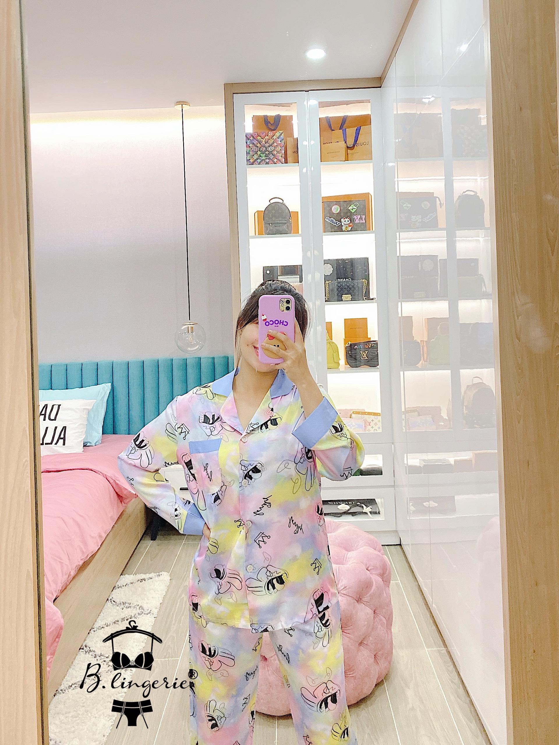Bộ Pyjama Lụa Cao Cấp Blingerie