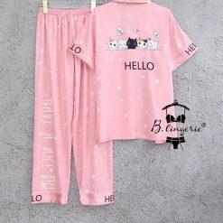 Đồ Bộ Pyjama Tay Ngắn Quần Dài Blingerie