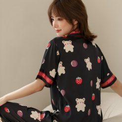 Bộ Pyjama Lụa Ngắn Tay Blingerie