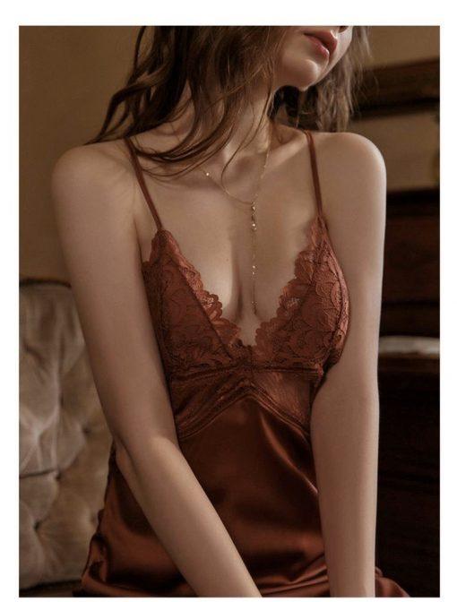 Đầm Ngủ Phi Lụa Cao Cấp Blingerie