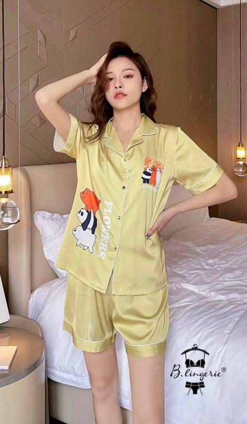 Đồ Bộ Pijama Ngắn Dễ Thương