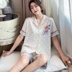 Pijama Ngắn Hình Thỏ Cute