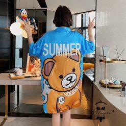 Váy Sơmi Pyjama Lụa Satin Blingerie