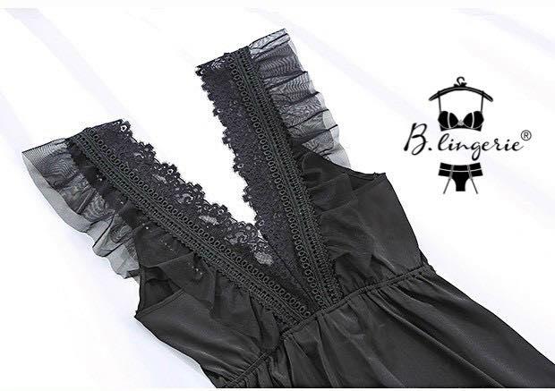 Váy Ngủ Cổ Chữ V Siêu Gợi Cảm - Blingerie