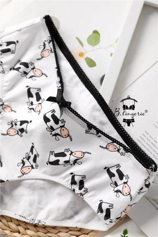 Bộ Đồ Lót Bò Sữa Dễ Thương - Blingerie
