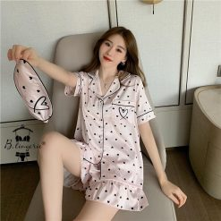 Đồ Bộ Pyjama Ngắn Trái Tim - Blingerie