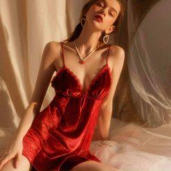 Váy Ngủ Nhung Lụa - Blingerie
